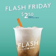 Second Cup Flash Friday: Get Any Medium Flash Cold Brew for $2.50 Every Friday Until August 23