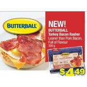 Butterball Turkey Bacon Rasher - $4.49