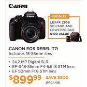 Canon Eos Rebel T7i W/18-55 Is Stm Lens - $899.99 ($250.00 off)