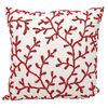 Mina Victory Beaded Seaweed 18-inch Square Outdoor Throw Pillow In Red/white - $65.99 ($44.00 Off)