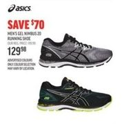 Asics Men's Gel Nimbus 20 Running Shoe - $129.98 ($70.00 off)