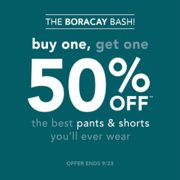 Tommy Bahama: BOGO 50% off Boracay Products