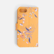 Ocher Wallet Style Phone Case With Small Flowers (iphone 6-7-8) - $6.99 ($7.96 Off)