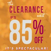 Le Chateau Outlet Clearance Event: Up to 85% off Clearance