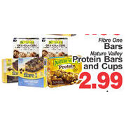 Fibre One Bars Nature Valley Protein Bars And Cups  - $2.99