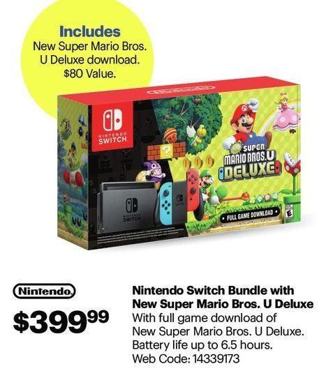 Best Buy Nintendo Switch Bundle With New Super Mario Bros U