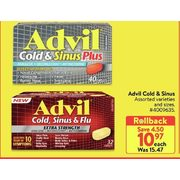 Advil Cold & Sinus  - $10.97 ($4.50 off)