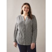 Button Front Long-sleeve Blouse - In Every Story - $14.97 ($34.03 Off)