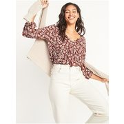 Printed Tie-neck Boho Swing Blouse For Women - $29.70 ($5.29 Off)