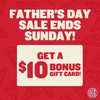 Boston Pizza: Get a $10 Bonus Gift Card with $50 E-Gift Card Purchase for Father's Day